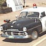 Old Plymouth Police Car