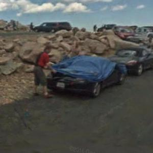 Secret Porsche road test in progress (StreetView)