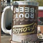 Upside down Root Beer sign
