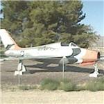 Republic F-84F Thunderstreak with USAF Thunderbird paint scheme