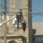 Utility Worker Repairing a Power Line (StreetView)