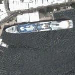 Cruise ship in Bermuda (Google Maps)