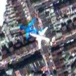 Airplane over south London (Google Maps)