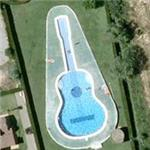 Guitar shaped pool (Google Maps)