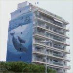 Wyland Whale Mural - 'Sperm Whales of the Mediterranean'