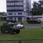 M4 Sherman, Panhard AML & AMX-VCI on display (StreetView)