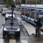 Waving to the Google camera (Google car #2)