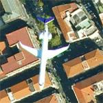 Airplane flying over Naples (Google Maps)