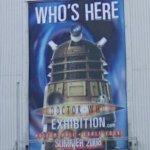 Doctor Who exhibit sign