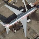 "Boeing 777 ""Breast Cancer Awareness"" (Google Maps)"