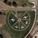 Airplanes on static display (Google Maps)