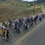 Bicycle racing (StreetView)