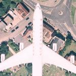 Airbus A340 in flight (Air Canada) (Google Maps)