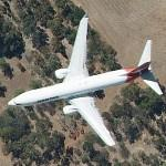 Boeing 737 in flight (Qantas Airways ) (Google Maps)