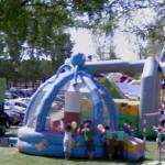 Bouncy castle (moonwalk) park (StreetView)