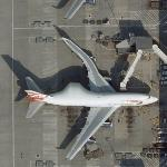 Pregnant British Airways 747 (Google Maps)