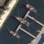 Columbus' Fleet - The Nina, the Pinta and the Santa Maria (Google Maps)