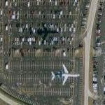 Airplane (seen twice) landing at Hartsfield-Jackson (Google Maps)