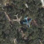Airplane over Tallahassee (Google Maps)