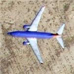 Southwest Airlines on approach to Albuquerque Airport (Google Maps)