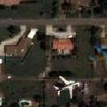 Airplane over Gilbert, Arizona (Southwest Airline) (Google Maps)