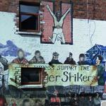 'St. James's support the Hunger Strikers' mural