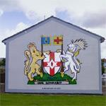 'Northern Ireland Coat of Arms' mural