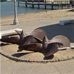 Old ship's propellers