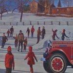 Wintertime mural