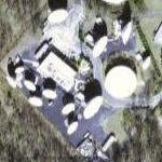 Former hardened Nike Missile site NY-54L and satellite dish antennas (Google Maps)