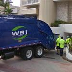 WSI garbage truck and crew