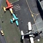 "Grumman SA-16A ""Albatross"", AT-6D ""Texan"", Beech E18S (Google Maps)"