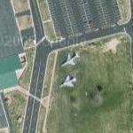 RF-101H Voodoo and RF-4C Phantom II on static display (Google Maps)