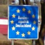 'Bundesrepublik Deutschland' - German border (StreetView)