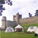 Medieval encampment at Warwick Castle