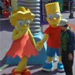 Bart and Lisa Simpson (StreetView)