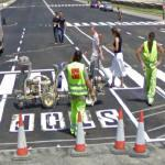 Painting 'STOP' on the street (StreetView)