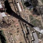 World's tallest flue gas stack at GRES-2 power station (Google Maps)