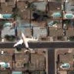 Airplane over Mesa, AZ (Google Maps)