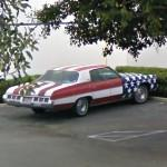 American Flag paint (StreetView)