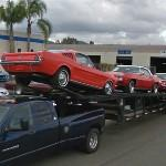 Classic Car Transport (Ford Mustang fastback & Pontiac Firebird)