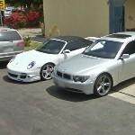 BMW 7 Series (E65) & Porsche 911 Turbo Cabriolet (StreetView)