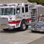 Edsel Corsair & Fire Truck (StreetView)