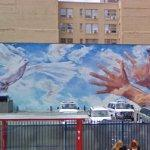 Releasing a dove mural (StreetView)