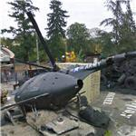 Crashed helicopter (StreetView)