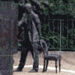 C.S. Lewis Centenary statue by Ross Wilson (StreetView)