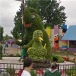 Sesame Street topiary