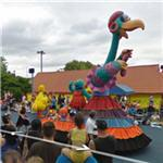 Sesame Street parade in progress