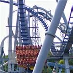 Griffon roller coaster car full of people