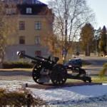 Swedish cannon on display